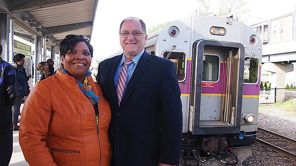 U.S. Rep. Michael Capuano joined local activists and state officials to kick off two weeks of free rides on the ...