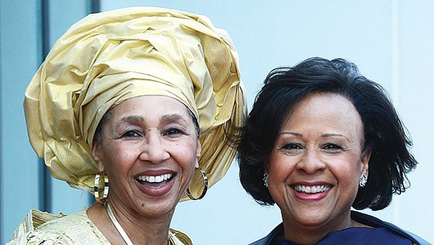 Rev. Gloria Hammond, Wellesley College President Paula Johnson