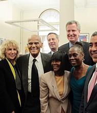 Manhattan Brough President Gale Brewer, Pamela Frank, Harry Belafonte, Cicely Tyson, Mayor Bill de Blasio, Chirlane McCray, Congressman Adriano Espaillat and City Council Member Bill Perkins