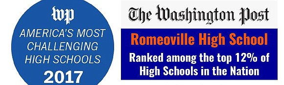 "Romeoville High School ranks among the top 12 percent ""most challenging high schools"" in the country according to a Washington ..."