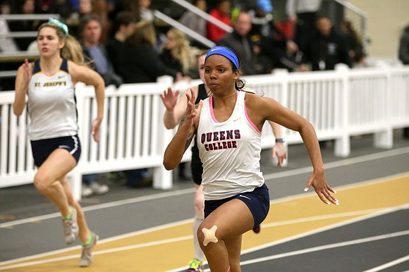 Queens College junior Damira Banks literally sprinted to the finish. The multi-talented junior track athlete was part of the Knights' ...