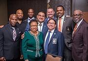 Terrence Stone, JT, Jonathon Buffong, Sup. James Ramos, Mike Tulisia, Dep. Deon Filer, John Futch (NAACP VP), Cheryl Brown, Norm Nunez
