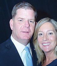 Mayor Walsh and long-time partner Laurie Higgins