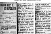 Just over 100 years ago, this headline appeared in The Commercial Appeal. Weeks later, Ell Persons, an African American man, was publicly lynched before a reported mob of 2,000 - 3,000 people.
