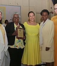 Lorraine Figueroa (Audrey Huner Honoree), Tahesha Davis, Judge L. Priscilla Hall and Gianni Staley