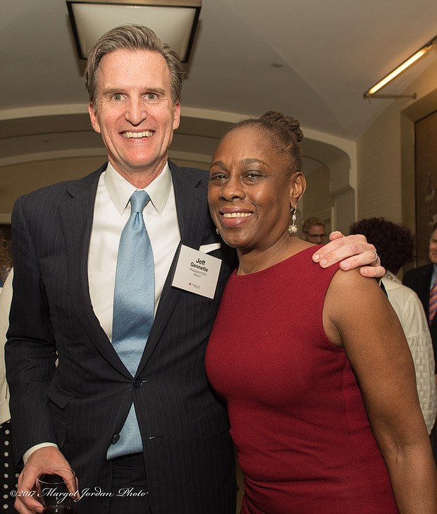 Jeff Gennette, Macy's president and Chief Executive Officer and First Lady and New York City Chirlane McCray