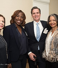 Macy's Shawn Outler, Senior Vice President of Lease, Pricing, and Multicultural Initiatives, Jeff Gennette, Macy's President and Chief Executive Officer, and Janelle Procope, President and CEO of The Apollo Theater Foundation
