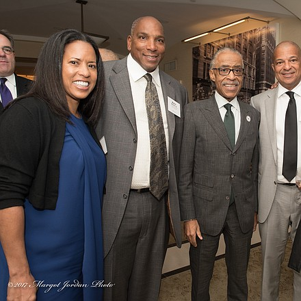 Michelle Ebanks, President Essence Communications and People en Espanol, Earl Butch Graves, President and CEO of Black Enterprise, Reverend Al Sharpton Founder and President of National Action Network and guests