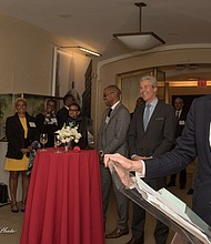 Jeff Gennette, Macy's President and Chief Executive Officer addresses reception guests.