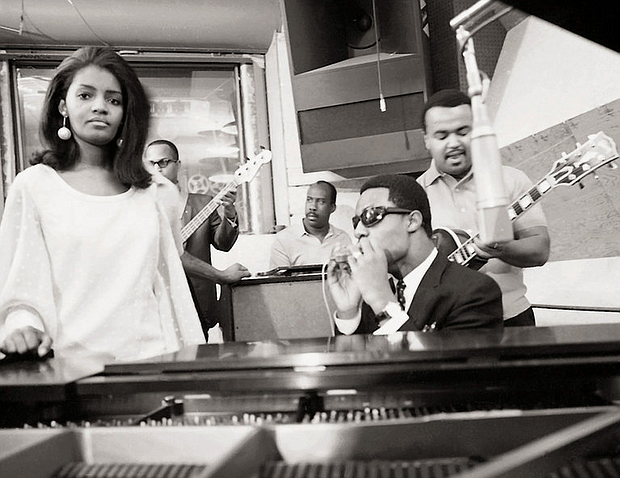 Sylvia Moy with Stevie Wonder and the Funk Brothers