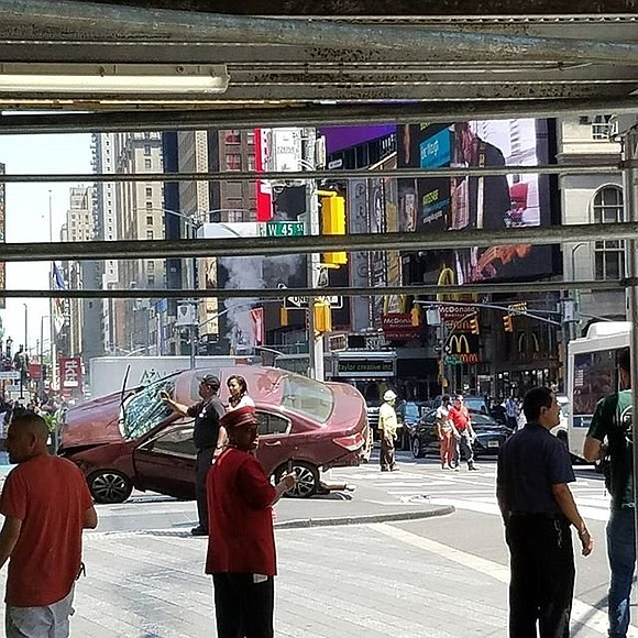 An 18-year-old woman was killed and at least 22 people injured Thursday when a speeding car plowed into pedestrians Manhattan's ...