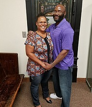 Lamont Glass with wife Sharonda