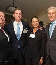 Roger Rocha, National President LULAC (League of United Latin American Citizens), Jeff Gennette, Macy's President and Chief Executive Officer, Journalist Soledad O'Brien and Macy's Executive Chairman Terry J. Lundgren