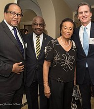 Dr. Benjamin Chavis, Jr., NNPA President/CEO, Karl and Faye Rodney of The NY Carib News, and Jeff Gennette, Macy's President and Chief Executive Officer.