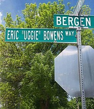 "Street named after Eric ""Uggie"" Bowens"