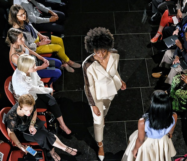 The show, held at the Virginia Museum of Fine Arts, drew a crowd that was awed by the fashion segments featuring knitwear, dresses, menswear and denim, among others.