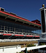 A view of the Pimlico Race Course on Friday.