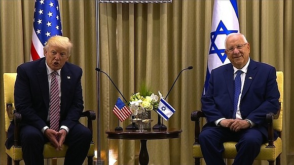 President Donald Trump lands in Israel on Monday for the second leg of his first foreign trip as president where ...