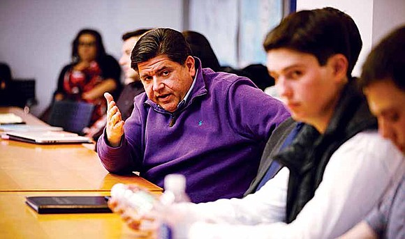 Pritzker said his success and knowledge as a business owner would be important in order to change Illinois' financial problems ...
