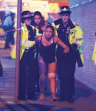 A survivor from Monday's bombing at an Ariana Grande concert in Manchester, England.