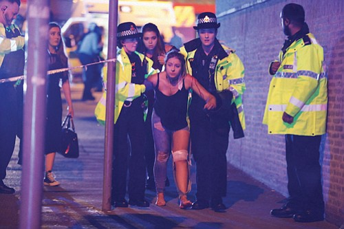 A bombing struck an Ariana Grande concert in Manchester, England on Monday night killing 22 people, including children at a ...
