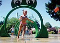The splash pad at Peninsula Park on North Rosa Parks Way and Albina Avenue is a popular way to get cooled off on a warm day.