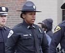 Charlene Diggs, first black woman on the force in Beckley, West Virginia. (Photo: Screenshot via The Register-Herald)