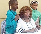 Addison Young (left) and Allison Young pose for a picture with civil rights advocate Ruby Bridges-Hall during the book signing session at the second annual Ruby Bridges Reading Festival at the National Civil Rights Museum on Saturday. (Photo: Lee R. Watkins)