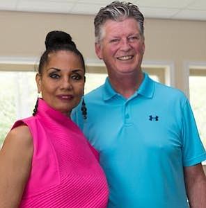 Loretta Winters with Daniel P. Teefy, Mayor of Williamstown.