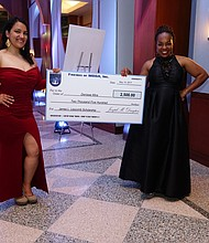 Denisse Mira, MBBA Scholarship Recipient and Touro Law Center Student; Paula Edgar, MBBA President and Founder and Principal of PGE LLC