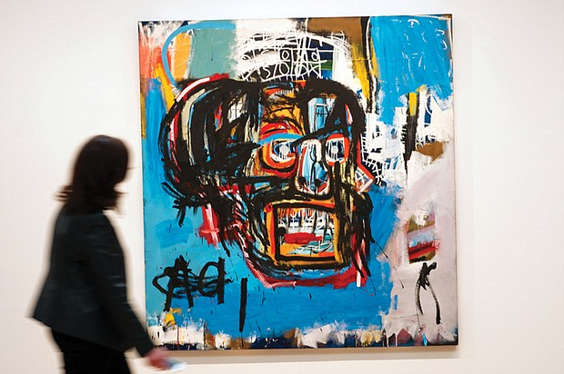 """Untitled,"" a Basquiat painting from 1982, sold for $110.5 million at Sotheby's auction on May 18."