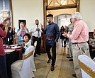 Frank Mason III enters Petersburg's Union Station to the ovation of about 100 fans, friends and family members last Friday during the Frank Mason III Day celebration.