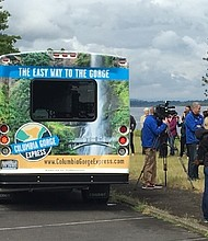 The Columbia Gorge shuttle bus.