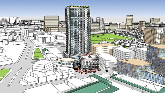 The 25-story tower in Dudley Square is expected to enliven the area with nightlife, new shops and commercial space. Its ...