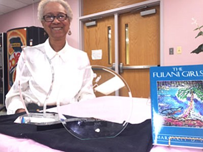 "Fans of Margaret D. Pagan listened as the 75-year-old author talked about her book, ""More Than A Slave: The Life ..."