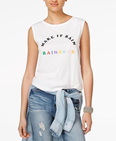 Ban.Do Cotton Make It Rain Rainbows Muscle Tank, $42