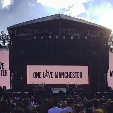 Ariana Grande returned Sunday to Manchester to honor the lives of those lost there. The singer and some of her ...