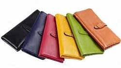 The strap closure allows for extra security and the wallet stays snug and closed. The wallets are built for maximum ...