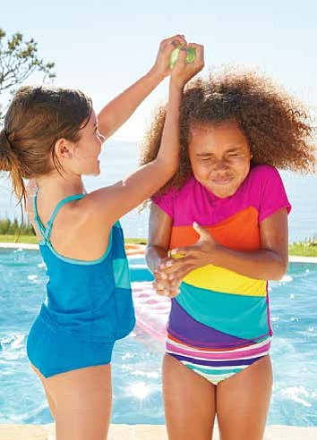 The entire Lands' End Kids' swim collection features UPF 50 sun protection and leading fabric technology that make each suit ...