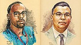 Sketches of Philando Castile and Jeronimo Yanez. Yanez is a Minnesota police officer on trial for the fatal shooting of Castile (Photo: NPR News)