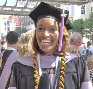 Ashlee Thomas, the reigning Miss Black Maryland USA, is now Dr. Ashlee Thomas.