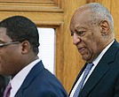 Entertainer Bill Cosby (right) arrives to the courtroom at the Montgomery County Courthouse on June 8, 2017 in Norristown, Pennsylvania.