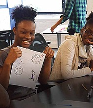 Brave Initiatives is currently a Chicago-based program that develops high school girls in the area of computer science and technology, and teaches them to solve social issues in their communities through computer coding. Some of the young ladies who come into the program start off with the desire of not wanting to code or believing that they can't code. But with weeks of training, they ultimately leave the program with a strong passion to work in the field.