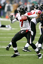 Michael Vick was drafted No. 1 overall by the Atlanta Falcons in 2001.