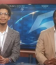 LOC students Deunte Cook (left) and Ashton Davis have formed a PR company to spread the word about the college's positives. (Courtesy photo)