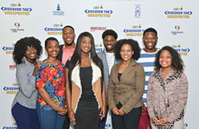 "The 2017 NNPA ""Discover The Unexpected Journalism Fellows (left-right) Noni Marshall, Alexa Spencer, Darrell Williams, Tiana Hunt, Ayron Lewallen, Taylor Burris, Jordan Fisher and Kelsey Jones."