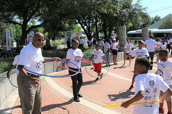 Children from Precinct One's youth programs joined Harris County Commissioner Rodney Ellis, Street Olympics officials and sponsors on June 7 ...