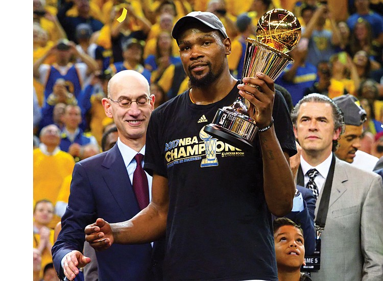 These two questions loom following the Golden State Warriors' fairly easy stroll to the NBA championship on Monday night With
