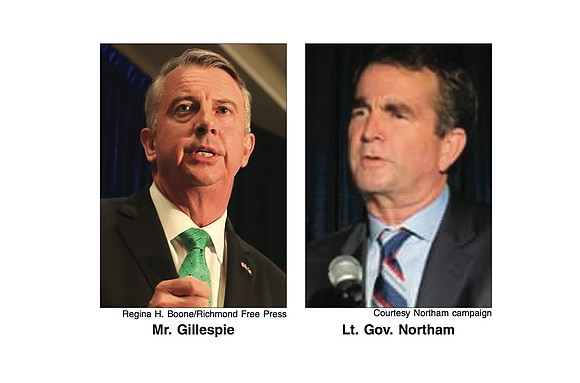 "Virginia's next governor will either be Democrat Ralph S. Northam or Republican Edward W. ""Ed"" Gillespie. The choice of the ..."