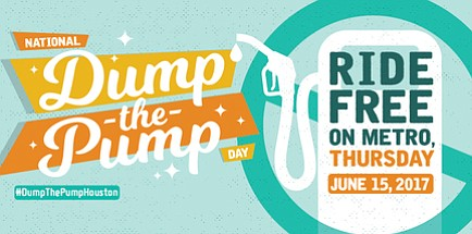 METRO wants you to Dump the Pump and save. On Thursday, June 15, 2017, METRO will offer free rides on ...